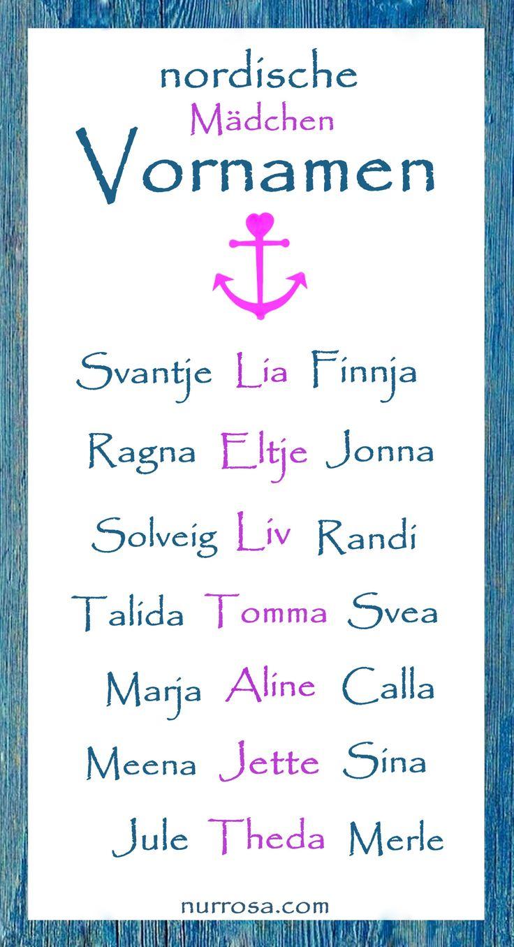 nordische Mädchen Vornamen #Baby #Babynamen #Kinder #Kindernamen #Namen #Vornamen #Liste #Eltern #Mama
