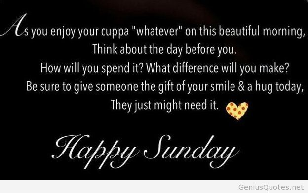 Happy sunday quote with images