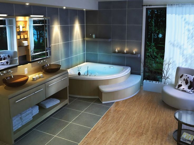 Website Picture Gallery One of my favorite modern installs Silver Birch glue down cork tiles from Forna have
