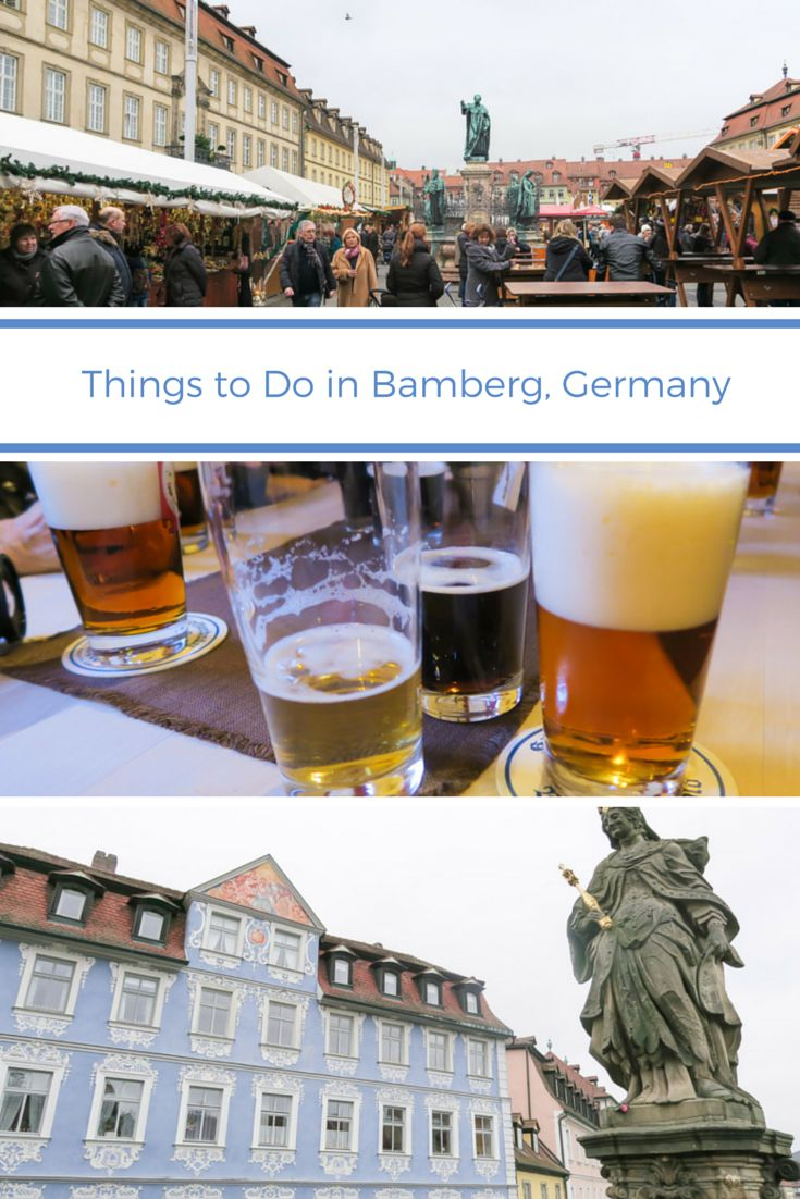 Find out what you should do in Bamberg, Germany (including drink beer and go to the Christmas market). #exploreuniworld