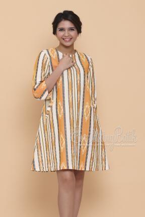 CA.10847 Amelia Jepara Ikat Dress Catalog