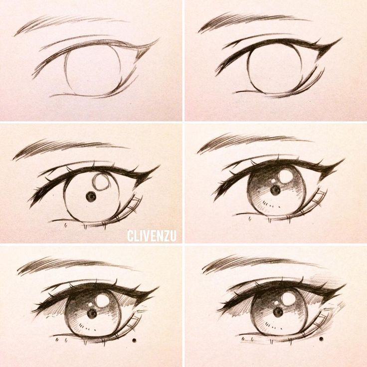 Very simple eye tutorial? You've been asking for a tutorial for so long, so here's it ~. from left to right 1. basic sketch: very simple, just do it 2. darken the lines to get more definition. The upper eyelashes are darker than the lower ones. The eyelashes by Dem use the spring technology for this purpose. Add a few small details, like the highlights and the iris along the way. Experiment with Shading 5. (OPTIONA