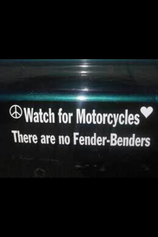 Best MOTORCYCLE AWARENESS Images On Pinterest Motorcycle - Motorcycle bumper custom stickers
