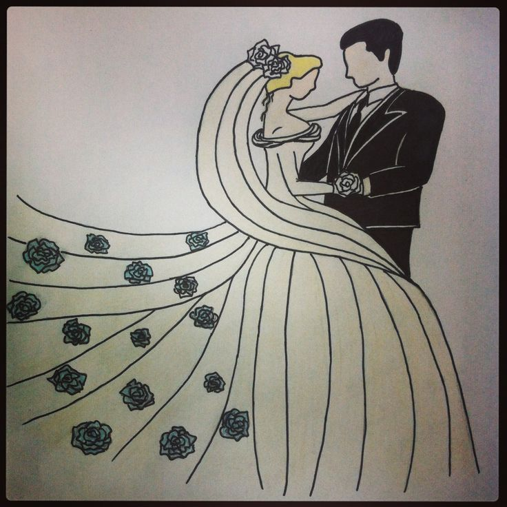 Wedding dance - drawing made by me