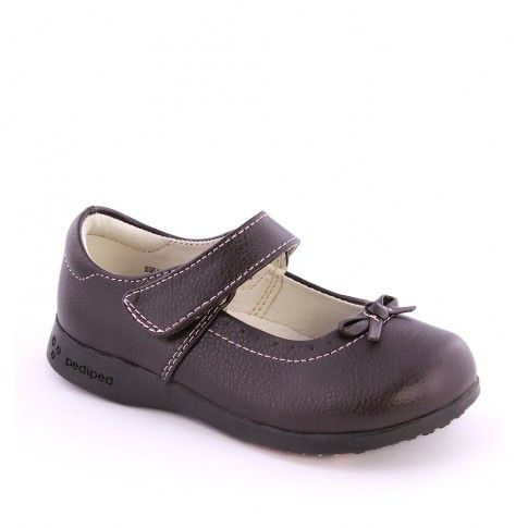 Pantofi fete Isabella Choc Brown - pediped
