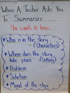 I modeled this one after the retell chart. My kids are summarizing every couple pages during buddy reading.