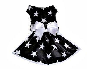 Vestido pet estrela.