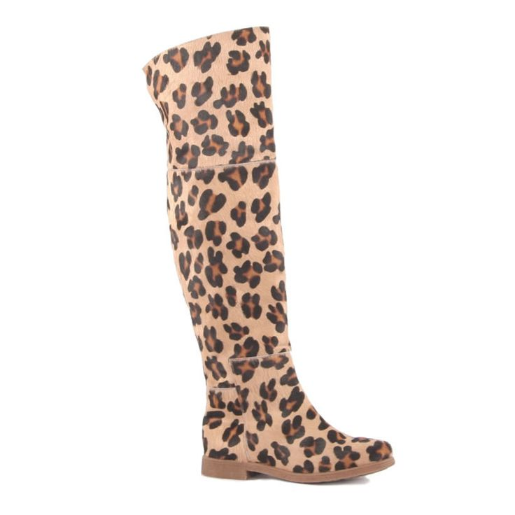 Botas rasas com padrão leopardo #ss15 #ruga #fashion #womanfashion #boots #sandals #tennis #trainers