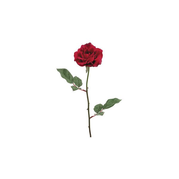 "23"" Red Open Silk Rose 