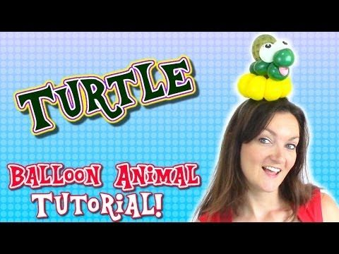 Cute Turtle Balloon Animal - Hairband - Bracelet - Balloon Animals with Holly the Twister Sister! - YouTube