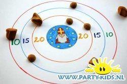 Feest: Afbeelding van Sint en Piet Pepernoten Gooi Spel