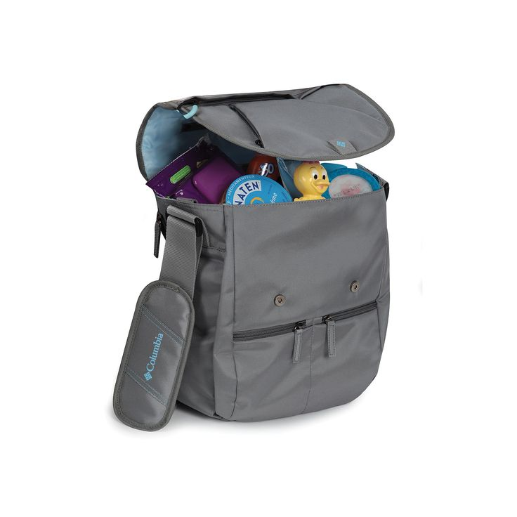 Columbia Rugged Path Expandable Messenger Diaper Bag, Grey