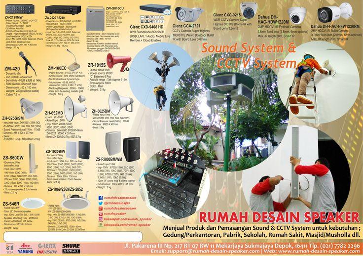 RUMAH DESAIN SPEAKER Menjual produk dan pemasangan CCTV, Sound system merk TOA untuk kebutuhan Masjid, Pabrik, Perkantoran, Sekolah, Rumah Sakit dll.   Jl Pakarena III RT 07 RW 11 No. 217 Mekarjaya Sukmajaya Depok Jawa Barat 16411, Indonesia Call/WA: 0821 1007 4404  www.rumah-desain-speaker.com  #TOA #TOAIndonesia #TokoTOADepok #TOASoundSystem #TOAPublicAddressSystem #TOAPagingSystem #TOAConferenceSystem #GLenzCCTV #TOAAmplifier #TOASpeaker #TOACorongSpeaker #TOAHornSpeaker #TOASpeakerMasjid