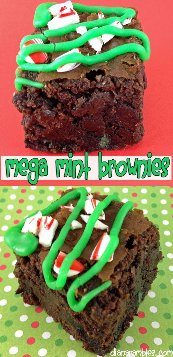 Mega Mint Chocolate Brownies Recipe is made with a boxed brownie mix and a few other simple ingredients.