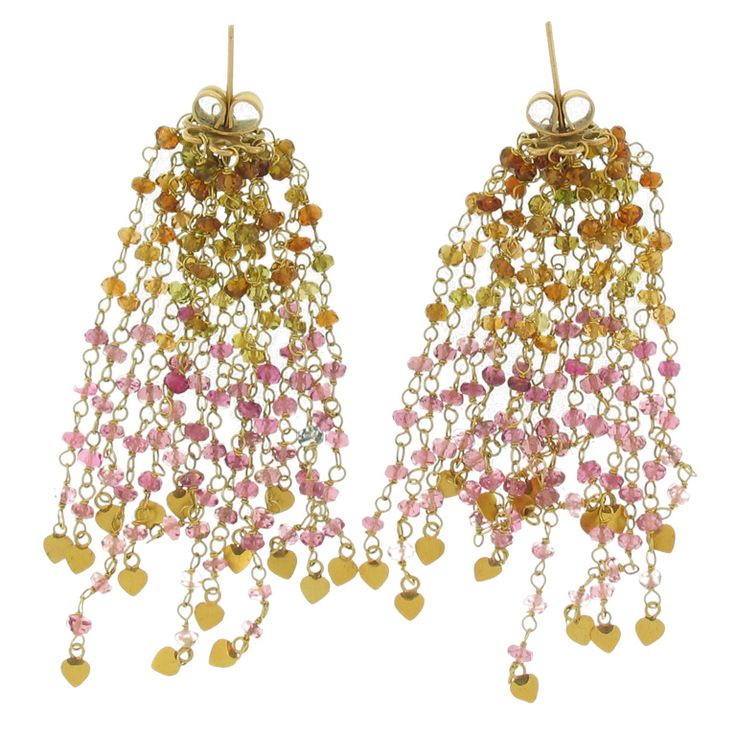 485 best chandelier dangles beaded hoop earrings images on pair of 18k gold and colored sapphire earrings aloadofball Choice Image