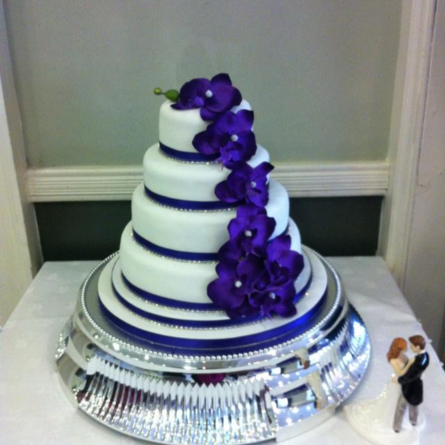 Cadburys Purple Orchid Wedding Cake