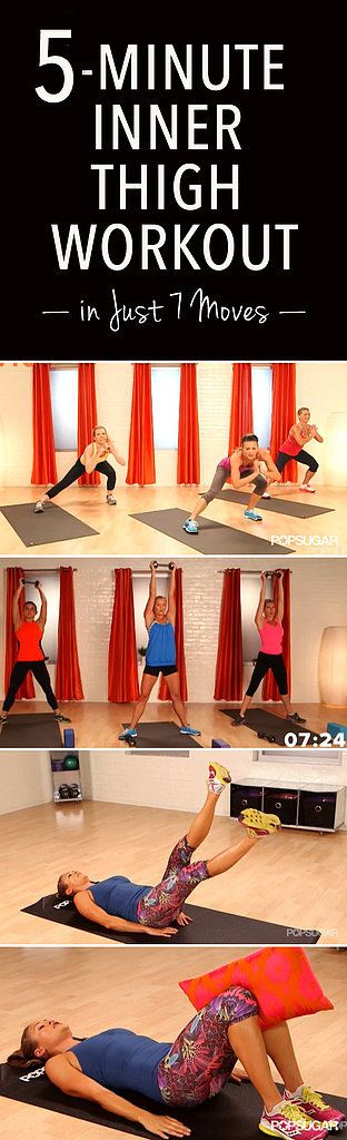 Quickie 5-Minute Workout For an Instant Inner-Thigh Burn