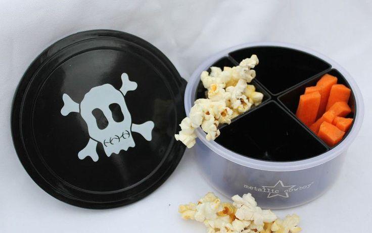 Black Skull Round Container