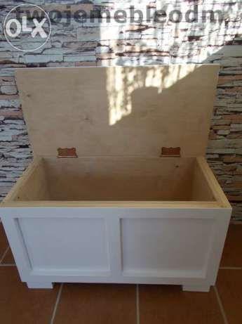 Ławka drewniana Kufer siedzisko skrzynia 75/37/42 Radomsko - image 1