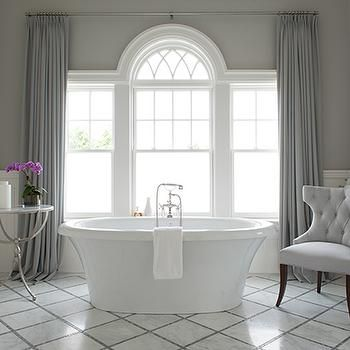 Feminine master bath window