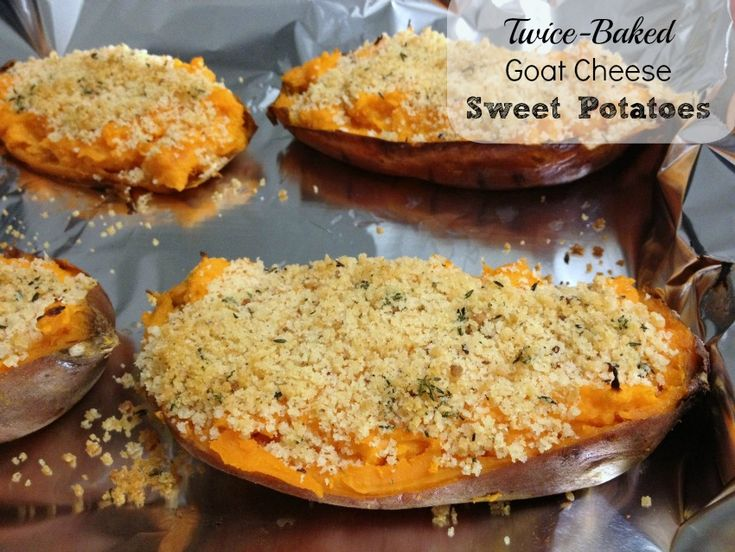 hopelessly devoted baked goat cheese twice baked sweet potatoes few ...
