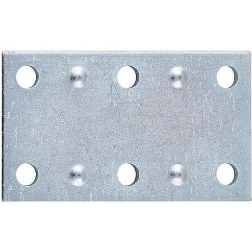 National Mfg. 2-1/2 Sn Mending Plate N220103 Unit: PKG, Silver steel