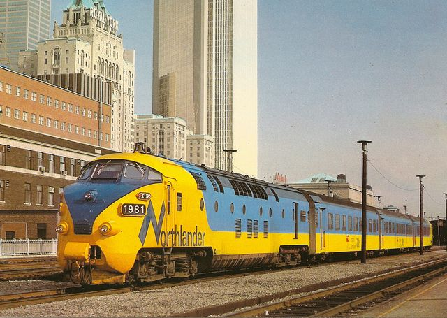 The Northlander.  Former Trans Europ Express train set of the SBB and NS, sold to Canada ...