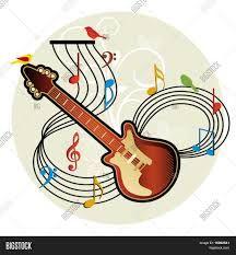 Resultado de imagen para guitarra con notas musicales