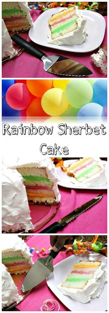 Rainbow Sherbet Ice Cream Cake Recipe | Ice Cream Social Fundraising