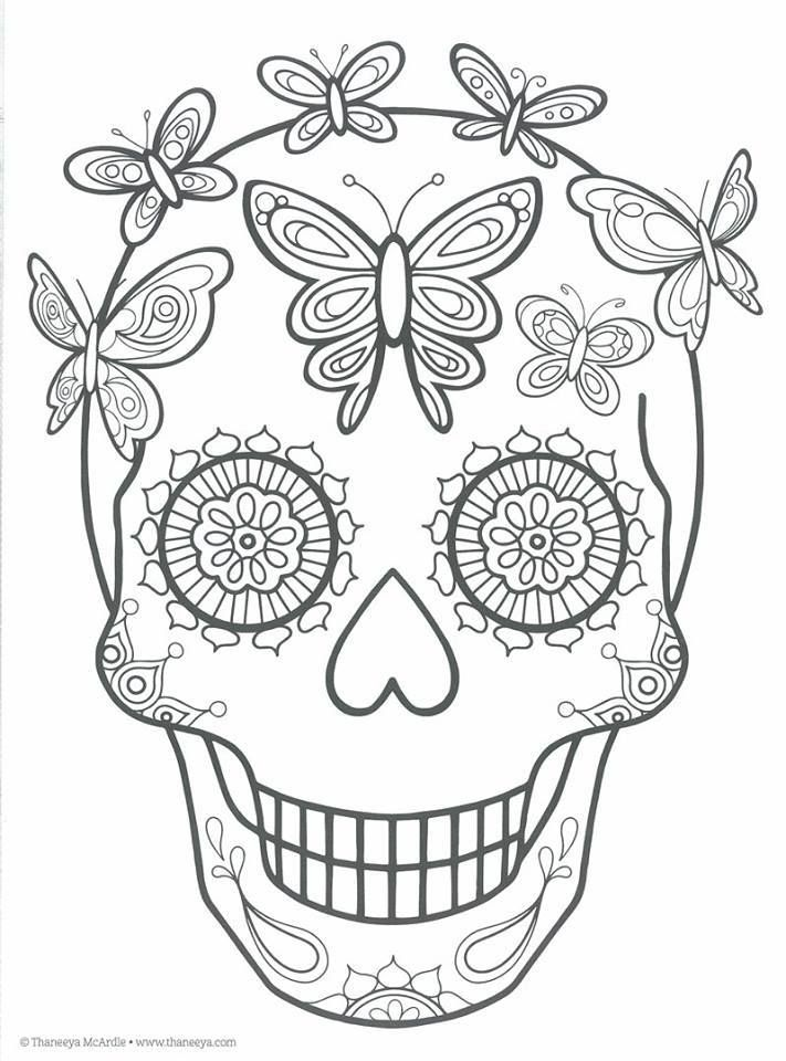 Dibujos para colorear el día de los muertos (27 | Bordados ...