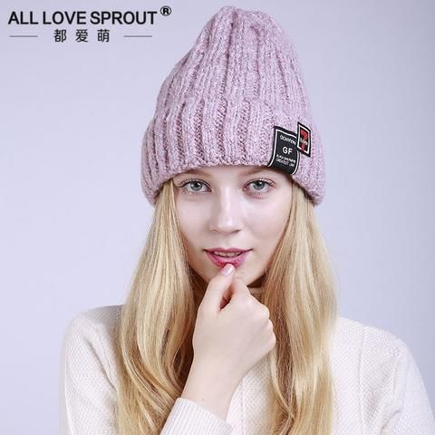 2018 New Women Winter Hat Cap Knitted Hats For Women Casual Embroidery Skullies … – hats