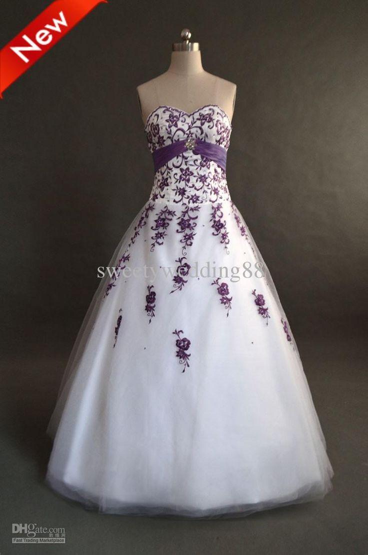 25  best ideas about Purple wedding gown on Pinterest | Purple ...