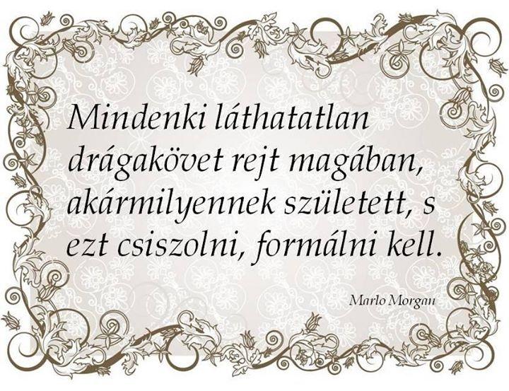 Marlo Morgan gondolata a fejlődés szükségességéről. A kép forrása: Kapcsos könyv # Facebook