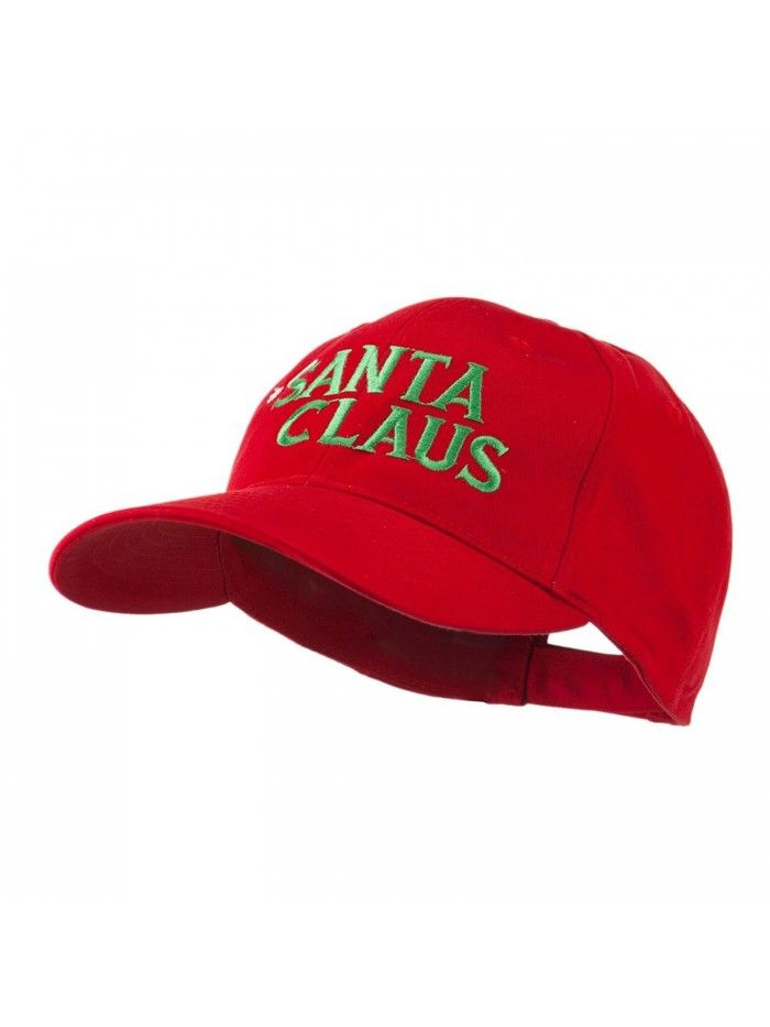 021dd8cd02246 Christmas Hat with Santa Claus Embroidered Cap - Red - C111GI6OBHP ...
