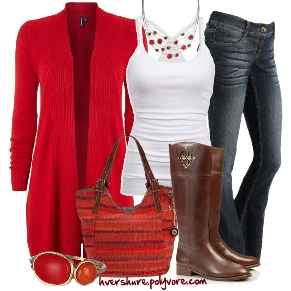 Long cardigan and Boots for fall, created by hvershure on Polyvore