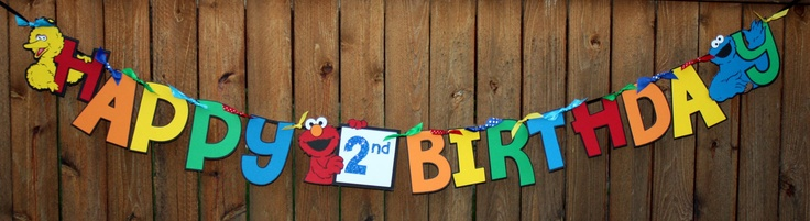 Sesame Street Banner for Birthday Party by TheWonderlandCottage, $25.00