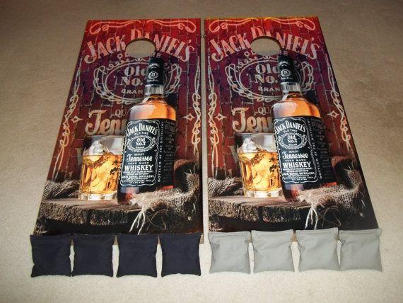 Jack Daniels Corn Hole Boards Bean Bag By