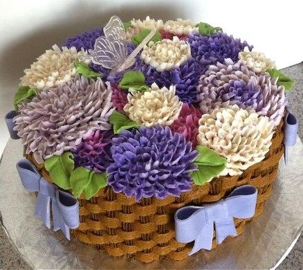 Buttercream Dahlia Cake - by GrandmaTilliesBakery @ CakesDecor.com - cake decorating website