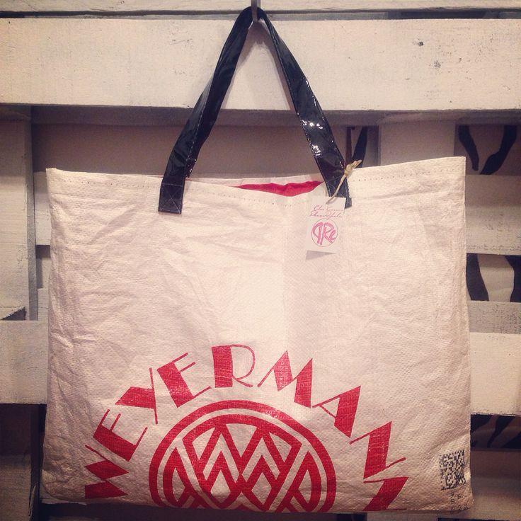 Maxi bag realizzata con sacco di malto per birra artigianale #elisacaruso #sewing #ricoclo #bag #craft #handmade #beer