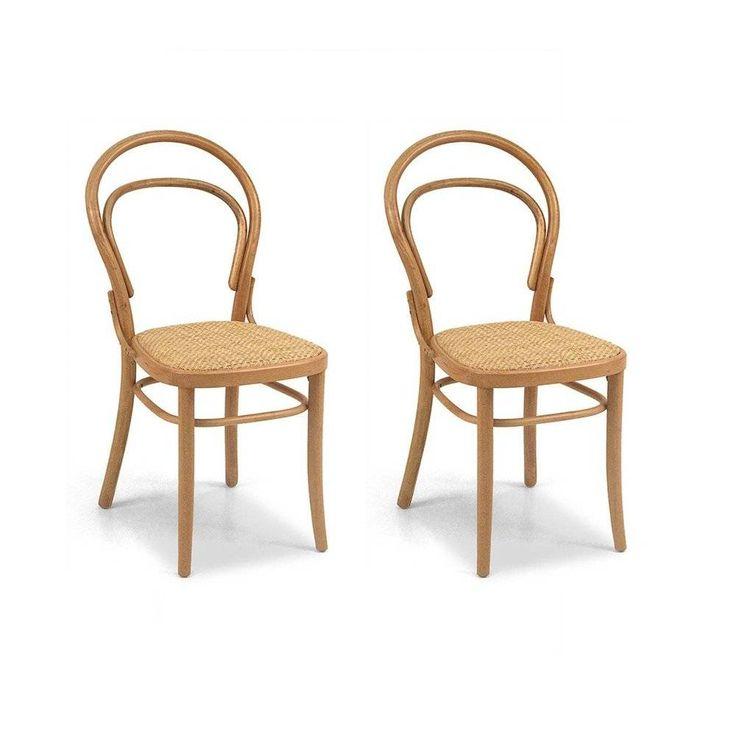 Cadeira Thonet em madeira maçiça de Carvalho XNR 361 (conj. de 2 pçs) | Iaza Móveis de Madeira