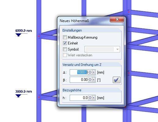 Dlubal RFEM 5 & RSTAB 8 – Neue Bemaßung Höhenkote | www.dlubal.de | #bim #cad #dlubal #dynamik #eurocode #fem #rfem #rstab #rxholz #statik #statiksoftware #tragwerkplanung
