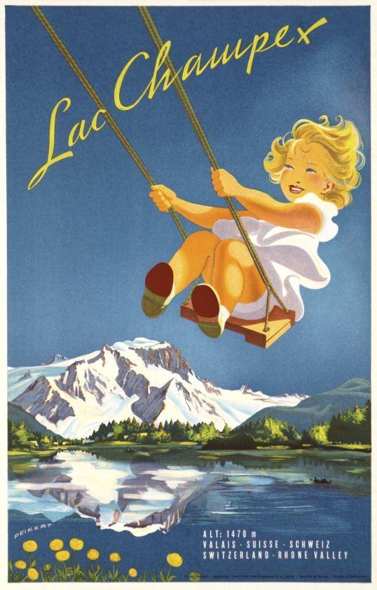 Les Champex. Valais. Suisse. Martin Peikert. 1947.