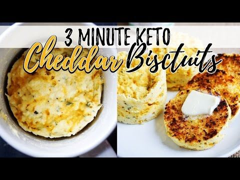 You can make these low carb biscuits in under 3 minutes to go with any keto meal or just as an afternoon snack.