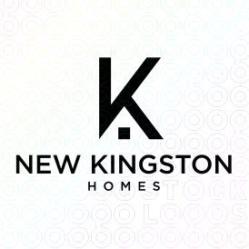 New+Kingston+Homes+logo  NS: good eye to reverse the ubiquitous housing icon from the negative space