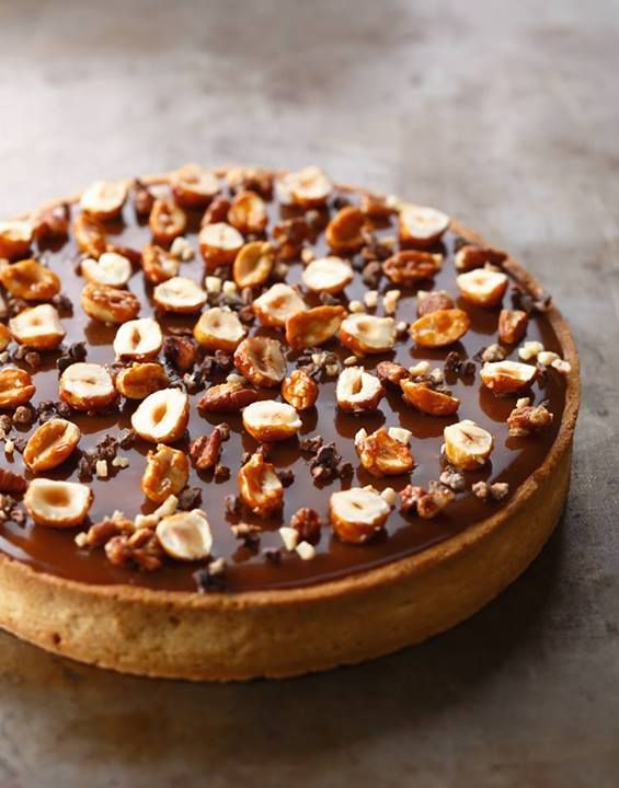 Tarte au chocolat (Christophe Adam) #chocolate #tart #nuts