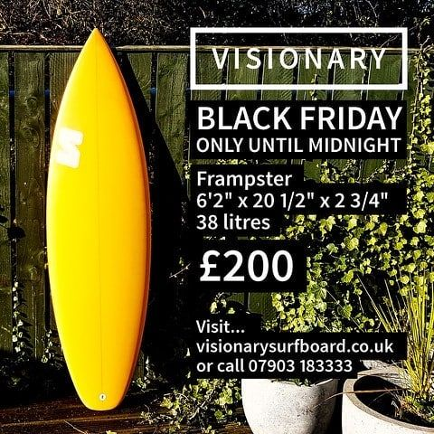 Black Friday Sale - reduced from 450 to 200 for today only. #visionary #blackfriday2017 #surfboard #blackfridaydeals http://ift.tt/19MEsb6