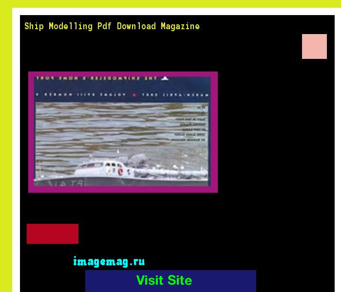 Ship Modelling Pdf Download Magazine 215526 - The Best Image Search