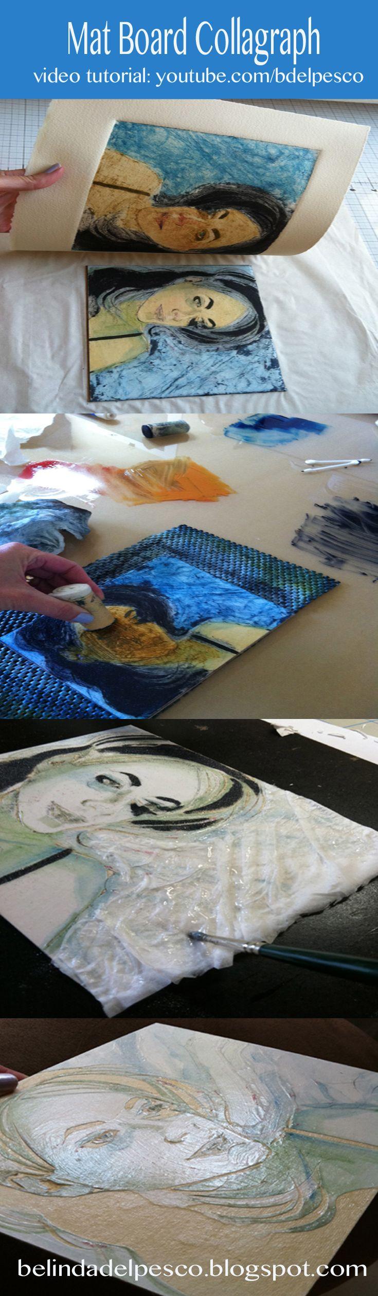Artist Belinda Del Pesco tutorial ijvideos on several printmaking techniques.
