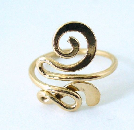 12k Gold Filled Snazzy Toe Ring