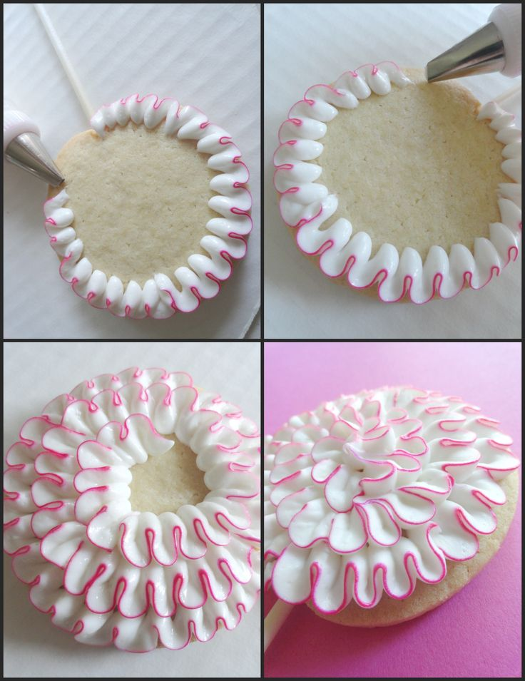 Step by step ruffles on cookies - For all your cake decorating supplies, please visit craftcompany.co.uk